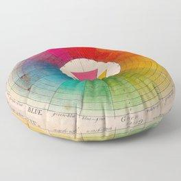 Color Wheel Vintage Antique Illustration Floor Pillow
