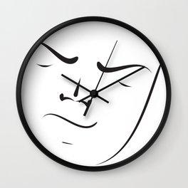 Brush my face Wall Clock