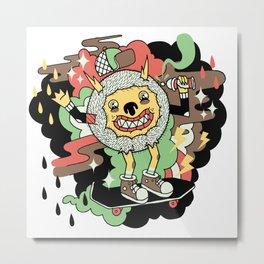 Skate and Destroy Metal Print