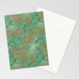 Verdigris Patched Texture Stationery Cards