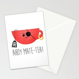 Ahoy Mate-tea! Stationery Cards