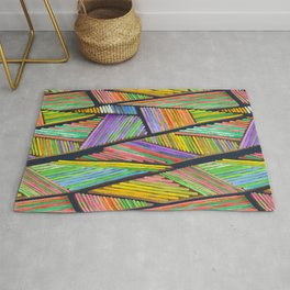 Abstract Landscape - Dutch tulip fields Rug