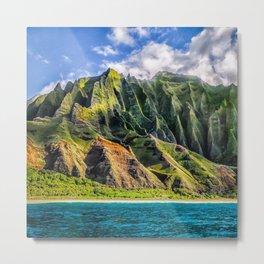 Na' Pali Spires, Kauai, Hawaii Metal Print