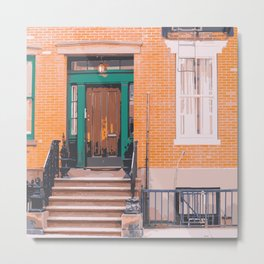 Next Door - Manhattan Stoop Metal Print