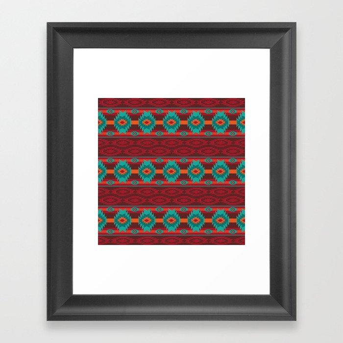 Southwestern navajo tribal pattern. Gerahmter Kunstdruck