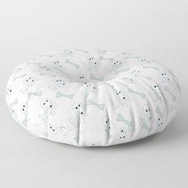 Pretty Pooch and Bone - grey Floor Pillow