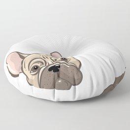 Cute french bulldog muzzle Floor Pillow