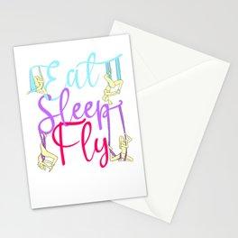 Eat Sleep Fly Repeat Aerial Yoga Silks Stationery Cards