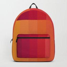 Dégradé Stripes X - Orange Backpack