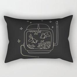 Astronaut Helmet in Water Rectangular Pillow