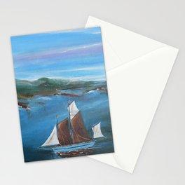 Sailing Boat entering Fowey Estuary Stationery Cards