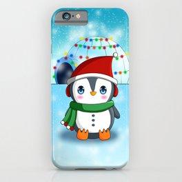 Christmas Penguin iPhone Case