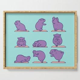 Baby Hippo Yoga Serving Tray