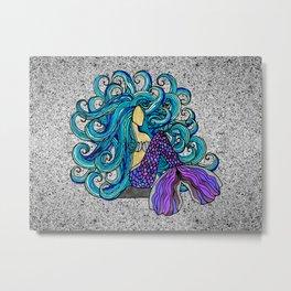 2017 Blue Mermaid Metal Print