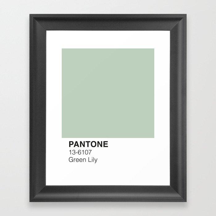 Green Lily Pantone Gerahmter Kunstdruck