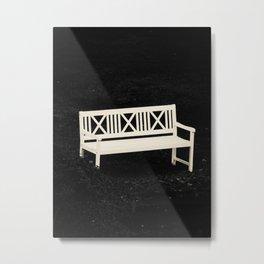 The white bench Metal Print