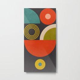 mid century bauhaus geometry large  1 Metal Print