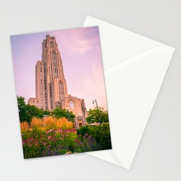 Pittsburgh Cathedral Of Learning Flower Garden Stationery Cards