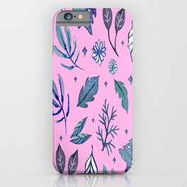 Ice Pattern Snowflake Winter Christmas iPhone Case