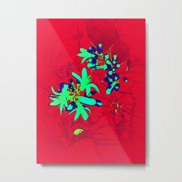 Red & Aqua OB Metal Print