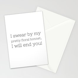 I will end you - Firefly - TV Show Collection Stationery Cards