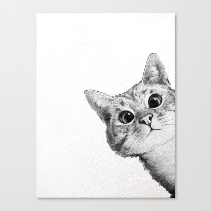 sneaky cat Leinwanddruck