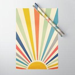 Sun Retro Art III Wrapping Paper