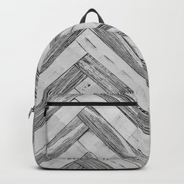 Vintage Diagonal Design //Black and White Wood Accent Decoration Hand Scraped Design Backpack