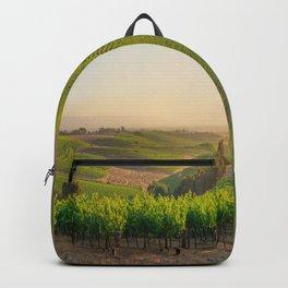 Golden Vineyard  panorama Backpack