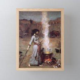 The Magic Circle by John William Waterhouse Framed Mini Art Print