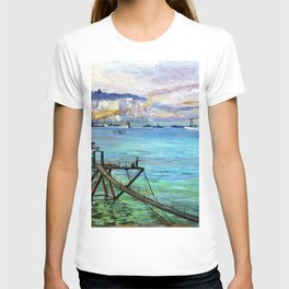 Sir John Lavery - The Entrance, Dover Harbour - Digital Remastered Edition T-shirt