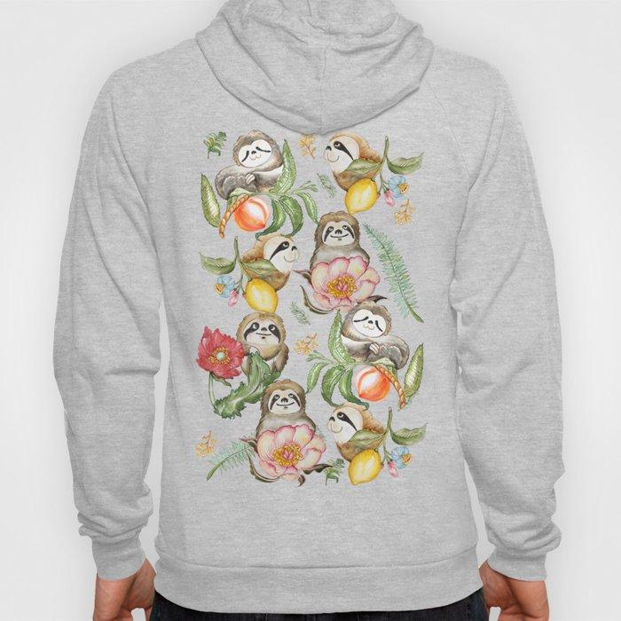 Botanical and Sloths Hoody