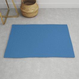Mid-tone Cobalt Blue Solid Color Pairs to Valspar America Peek-A-Boo Blue 4007-10-C Rug