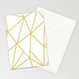 ABSTRACT DESIGN (GOLD-WHITE) Stationery Cards