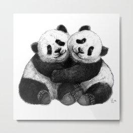 Panda's Hugs G143 Metal Print