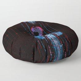 Virtual Data Earth Floor Pillow