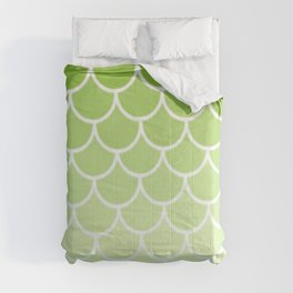 Ombre Fish Scale In Lime Comforters