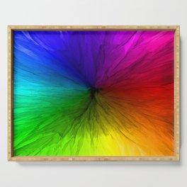 Rainbow Vortex Serving Tray