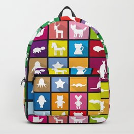 silhouettes of animals Backpack