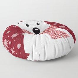 Christmas polar bear. Floor Pillow