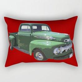 Green 1951 Ford F-1 Pickup Truck  Rectangular Pillow