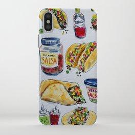 tacos burritos hot sauce and salsa iPhone Case