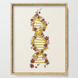 Floral DNA Serving Tray