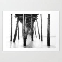 Black & White Long Exposure / Outer Banks, NC Art Print