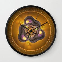Amber Prism; aka, Primordial Soup Fractal Emulsion Wall Clock