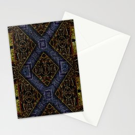 Geometrical Motif Stained Glass Stationery Cards