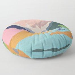 River Canyon Kayaking Floor Pillow