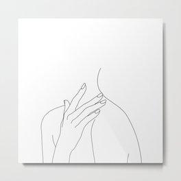 Female body line drawing - Danna Metal Print