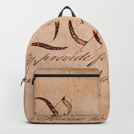 Constitution of the United States with the written word, People Backpack