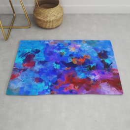 Abstract Seascape Painting Rug